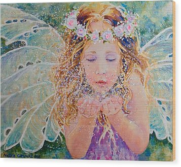 Fairy Dust Wood Print by Nicole Gelinas
