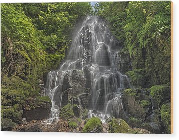 Fairy Falls On A Sunny Day Wood Print by David Gn