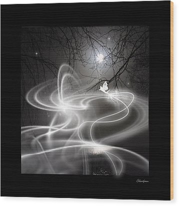 Fairy Fog Wood Print by Maggie  Smith