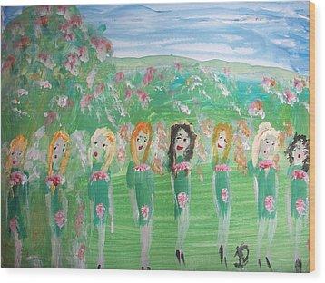 Fairy Irish Jig Wood Print by Judith Desrosiers