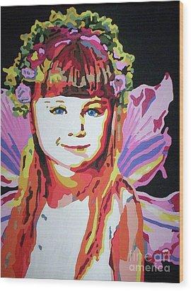Fairy Lexi Wood Print by Jennifer Heath Henry