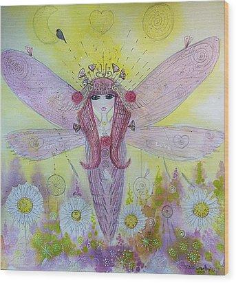 Fairy Messenger  Wood Print