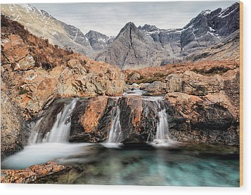 Wood Print featuring the photograph Fairy Pools by Grant Glendinning