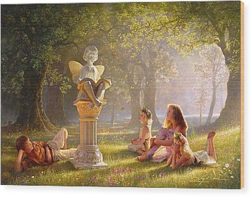 Wood Print featuring the painting Fairy Tales  by Greg Olsen
