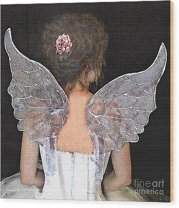 Fairy Wings Wood Print by Lamarr Kramer