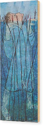 Faith At The Sea Of Reeds Wood Print by Mordecai Colodner