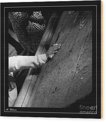 Wood Print featuring the photograph Faith Hands 2. by Arik Baltinester