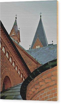 Faith In Geometry Wood Print by Odd Jeppesen