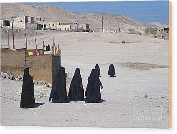 Wood Print featuring the photograph Faith Past And Present - Mourners by Urft Valley Art