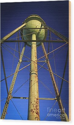 Wood Print featuring the photograph Faithful Mary Leila Cotton Mill Water Tower Art by Reid Callaway