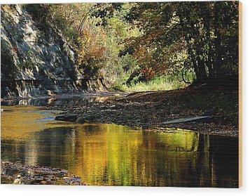 Fall At Big Creek Wood Print by Bruce Patrick Smith