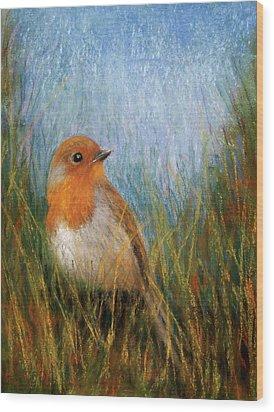 Fall Bird Wood Print by Susan Jenkins