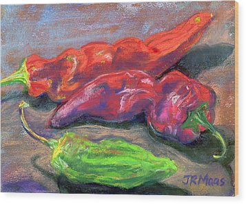 Fall Chiles Wood Print