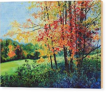 Fall Color Wood Print by Hanne Lore Koehler