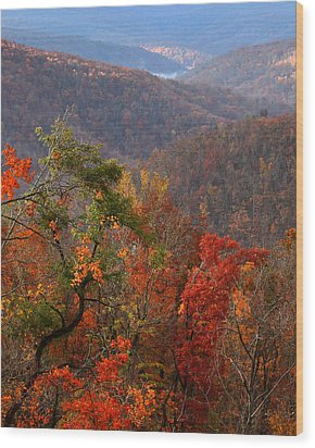Wood Print featuring the photograph Fall Color Ponca Arkansas by Michael Dougherty