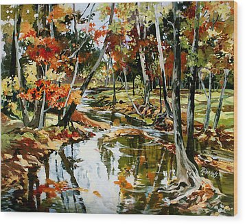 Fall Colors 3 Wood Print by Rae Andrews