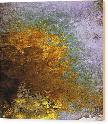 Wood Print featuring the digital art Fall Foliage by John Krakora