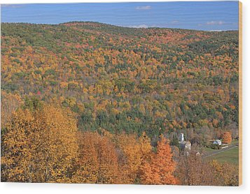 Fall Foliage On The Appalachian Trail Tyringham Cobble Wood Print by John Burk