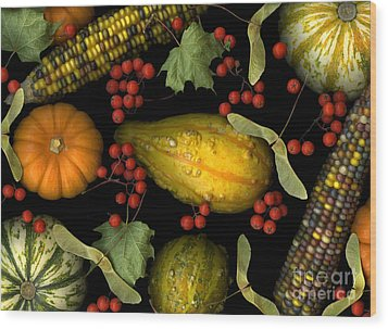 Fall Harvest Wood Print by Christian Slanec