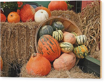 Fall Harvest Wood Print by Frank Russell