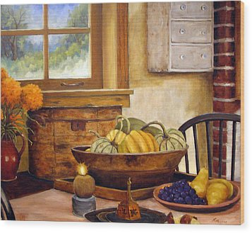 Fall Harvest Wood Print by Richard T Pranke