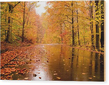 Fall Holidays Wood Print