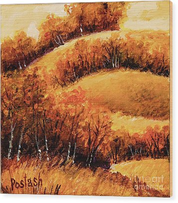 Wood Print featuring the painting Fall by Igor Postash