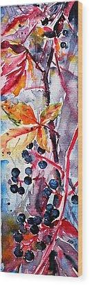 Wood Print featuring the painting Fall II by Kovacs Anna Brigitta