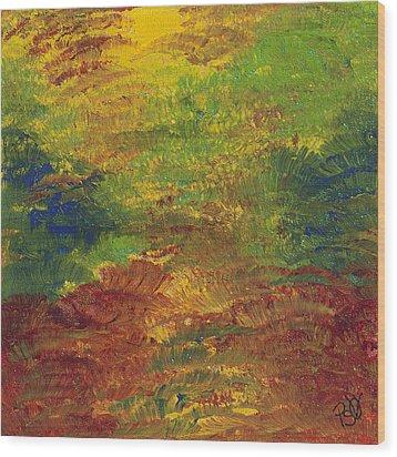 Fall Impressions Wood Print by Patty Vicknair