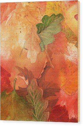 Fall Impressions V Wood Print by Irina Sztukowski
