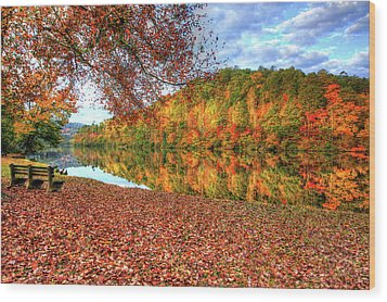 Fall In Murphy, North Carolina Wood Print by Sharon Batdorf