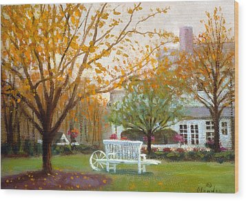 Fall In Nj Wood Print by David Olander