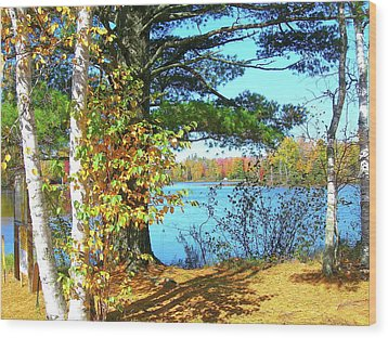 Wood Print featuring the photograph Fall In Phillips Wi by Randy Rosenberger