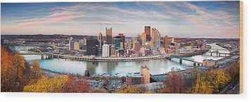 Fall In Pittsburgh  Wood Print by Emmanuel Panagiotakis