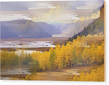 Fall In The Rockies Wood Print by Marty Koch