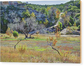 Fall In The Texas Hill Country Wood Print
