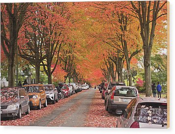 Fall In Vancouver 2017 1 Wood Print