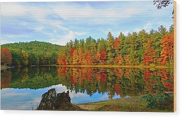 Fall Is Coming Wood Print