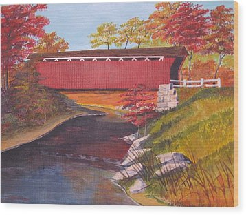 Fall Is In The Air Wood Print by CB Woodling