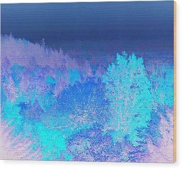 Fall Landscape, New Hampshire, Usa Wood Print by Stockbyte