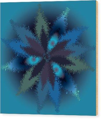 Wood Print featuring the digital art Fall Leaves 2 by Milena Ilieva