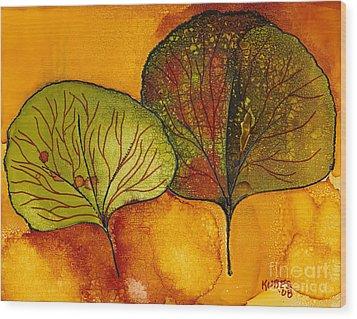 Fall Leaves  Wood Print by Susan Kubes