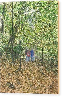 Fall Nymphs - IIi Wood Print by Joel Deutsch