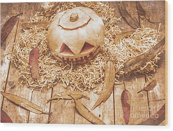 Fall Of Halloween Wood Print