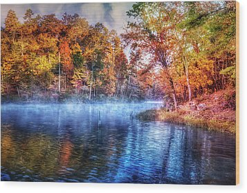Wood Print featuring the photograph Fall On The Lake by Debra and Dave Vanderlaan
