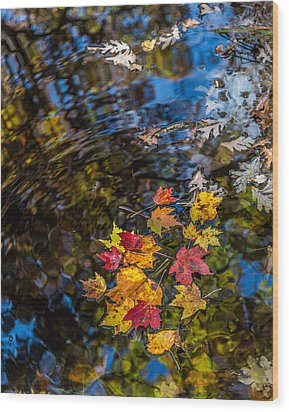 Fall Reflection - Pisgah National Forest Wood Print