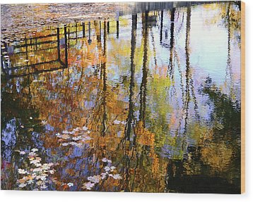 Wood Print featuring the photograph Fall Reflections by Corinne Rhode