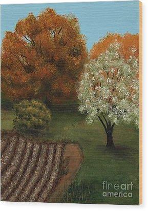 Fall Rendezvous Wood Print