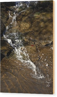 Wood Print featuring the photograph Fall Runoff At Broadwater Falls by Michael Dougherty