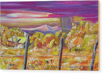 Fall Skies In Nm Wood Print by George Chacon